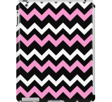 Pink Black White Chevron Pattern  iPad Case/Skin