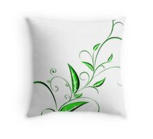 Abstract Plant Throw Pillow