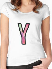 Letter Y Women's Fitted Scoop T-Shirt