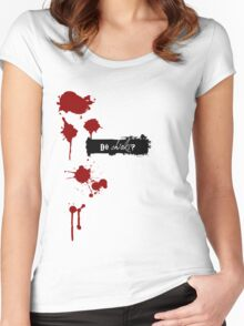 Do Chicks? 03 Red Wynonna Earp Women's Fitted Scoop T-Shirt
