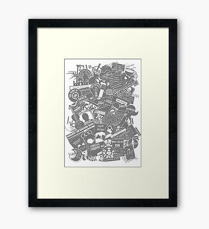 Ultimate Sherlock - Black and White Edition Framed Print