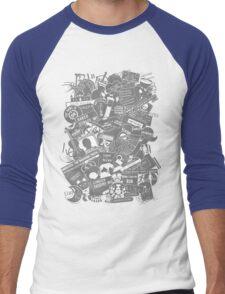 Ultimate Sherlock - Black and White Edition Men's Baseball ¾ T-Shirt