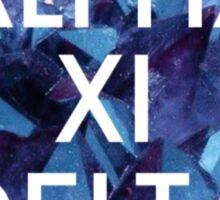Crystal Alpha Xi Delta Sticker