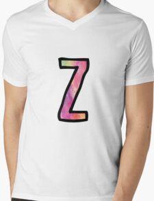 Letter Z Mens V-Neck T-Shirt