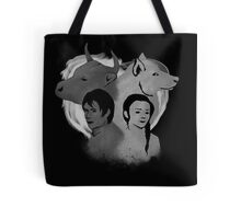 The Wolf and Bull Portrait Tote Bag