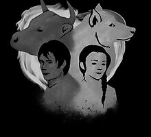 The Wolf and Bull Portrait by CapricaPuddin