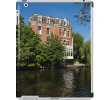 Amsterdam Canal Mansions - Floating By on a Boat iPad Case/Skin