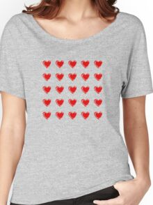 Little Red Hearts  Women's Relaxed Fit T-Shirt
