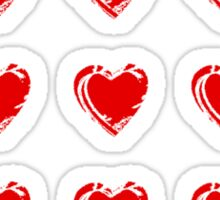 Little Red Hearts  Sticker