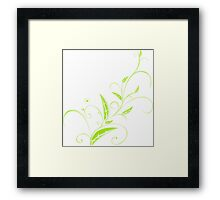 Abstract Plant Framed Print