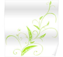 Abstract Plant Poster