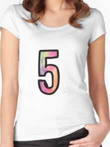 Number 5 Women's Fitted Scoop T-Shirt