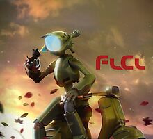 FLCL - Canti and Takkun by TedGravesArt