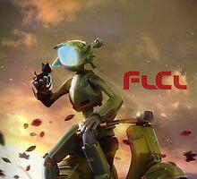 FLCL - Canti and Takkun by TedGravesArt