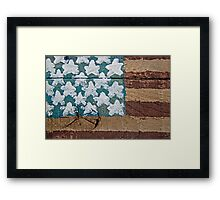 Wooden American Flag Framed Print