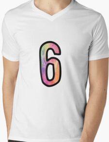 Number 6 Mens V-Neck T-Shirt