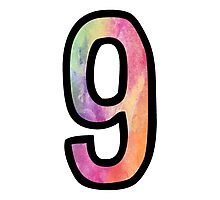 Number 9 Photographic Print