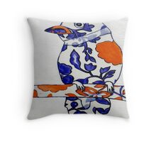 Tangerine Bird Throw Pillow