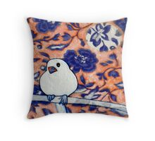 Little Snow Bird 2 Throw Pillow