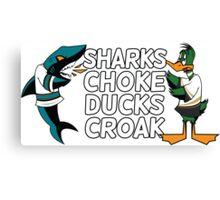 Sharks Choke and Ducks Croak - Light Canvas Print