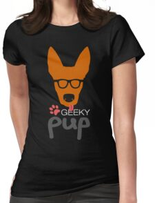 Geeky Pup Womens Fitted T-Shirt