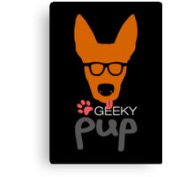 Geeky Pup Canvas Print
