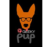 Geeky Pup Photographic Print