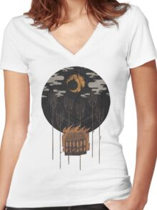 The Most Beautiful Night of All Women's Fitted V-Neck T-Shirt