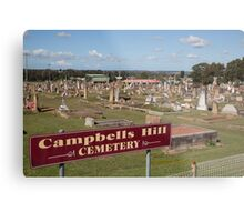 Historic Campbells Hill Cemetery, Maitland, Australia Metal Print