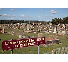 Historic Campbells Hill Cemetery, Maitland, Australia Photographic Print