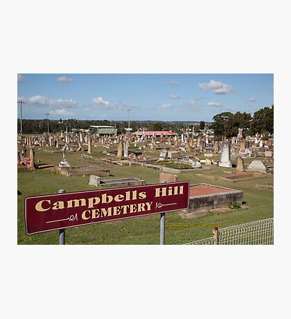 Historic Campbells Hill Cemetery, Maitland, Australia Photographic Print