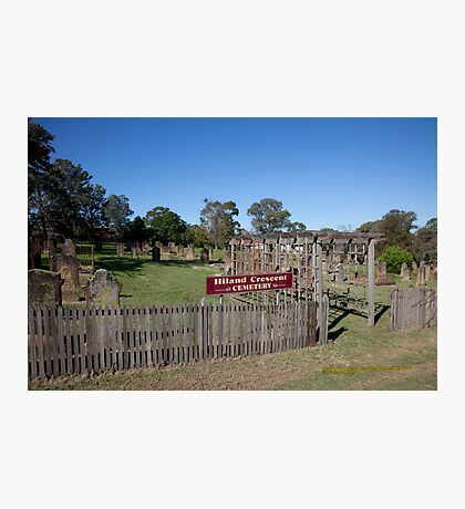 Historic Hiland Crescent Cemetery, East Maitland Australia Photographic Print