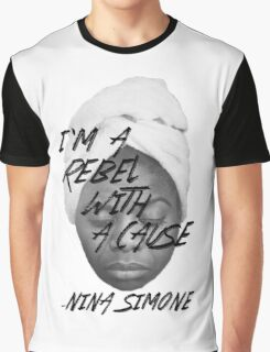 Rebel With a Cause - Face Graphic T-Shirt