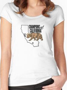 California Champions - Crown Women's Fitted Scoop T-Shirt