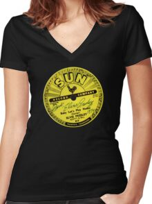 Sun Records Women's Fitted V-Neck T-Shirt