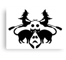 Halloween Rorschach  Canvas Print