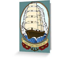 Traditional Ship in Color Greeting Card