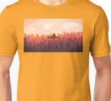 Sasquatch in a forest at sunset Unisex T-Shirt