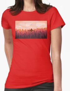 Sasquatch in a forest at sunset Womens Fitted T-Shirt