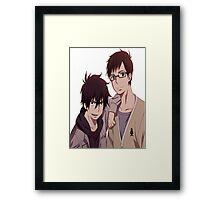 Ao No Exorcist- Rin & Yukio Framed Print