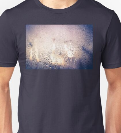 Water Drops on Glass 2 Unisex T-Shirt