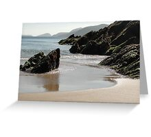 Beach off of the Cliffs Greeting Card