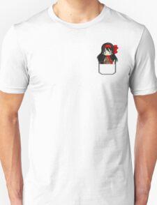 Anime chibi girl in pocket Unisex T-Shirt