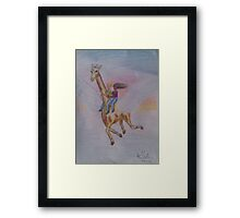 Giraffe in Flight Framed Print