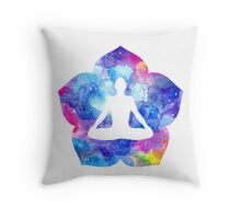 Meditation. Lotus asana Throw Pillow