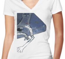 Art Is Trash Graphic T-Shirt Women's Fitted V-Neck T-Shirt