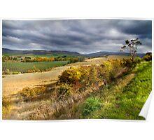 Rural Landscape - Derwent Valley, Tasmania Poster