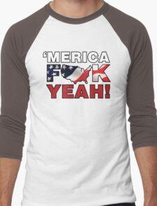 'MERICA Men's Baseball ¾ T-Shirt