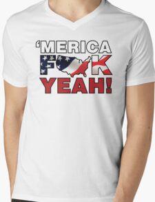 'MERICA Mens V-Neck T-Shirt