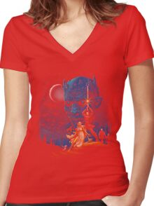 throne wars Women's Fitted V-Neck T-Shirt